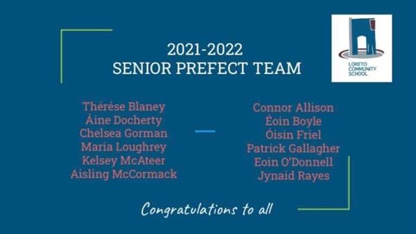 Prefects for 2021-22